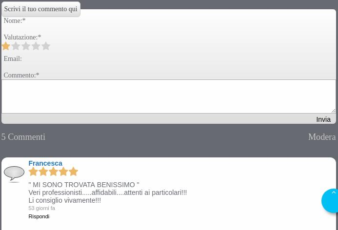 jquery bar rating in easycomment