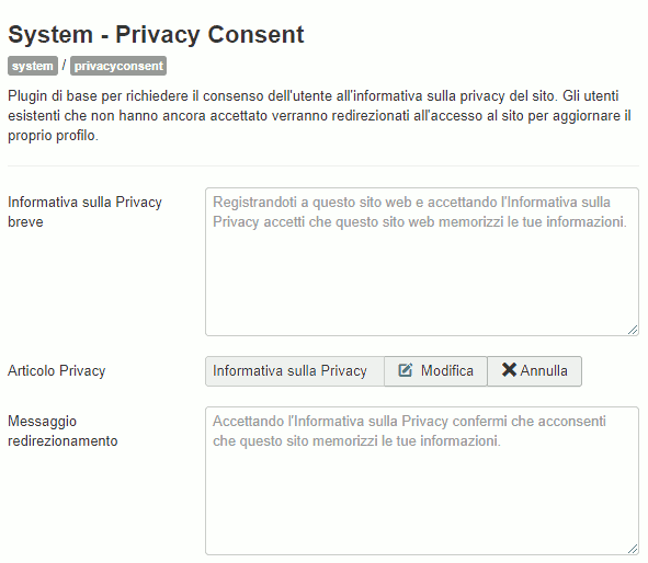 Plugin System Privacy Consent