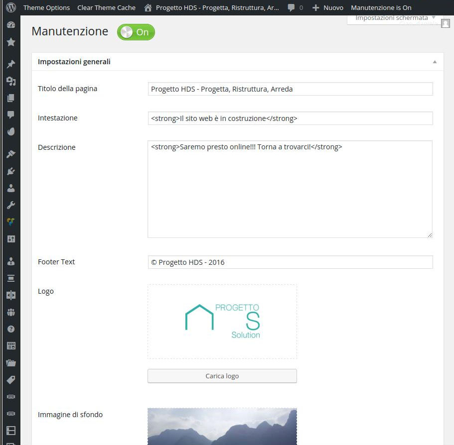 configurazione maintenance plugin 2