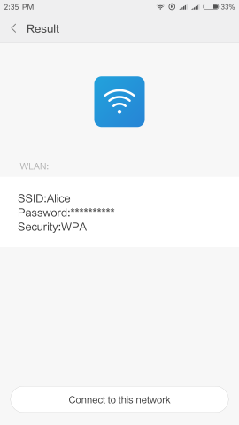 result app scanner password wifi